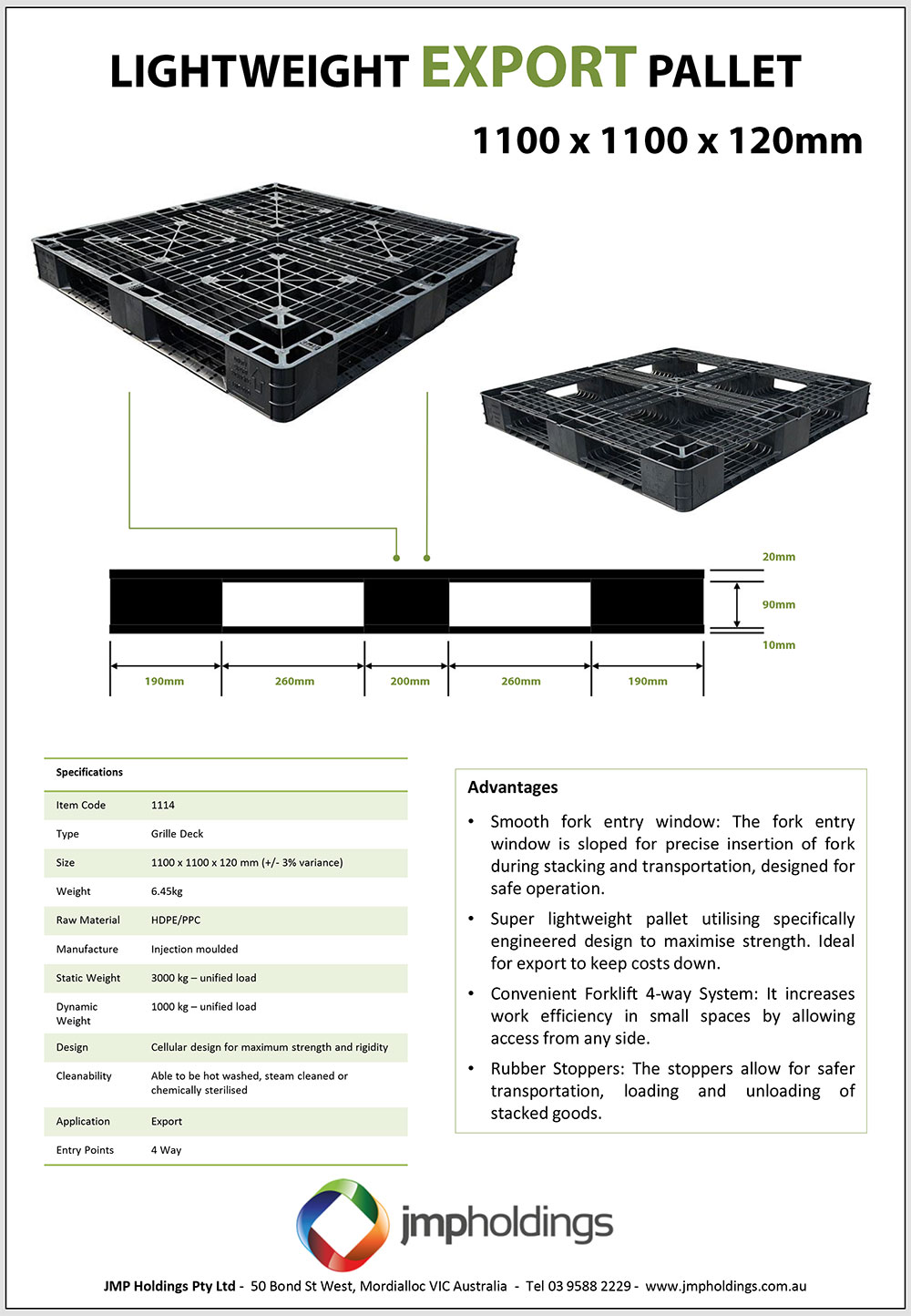 Plastic Pallets For Export And Domestic Use