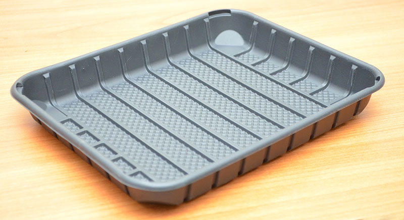 Corn starch meat trays for the food industry