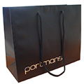 Rope Handle Paper Bag with Embossed Silver Foil Hot Stamp