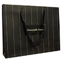 Grosgrain Flat Cotton Handle Paper Bag with UV Spot Logo
