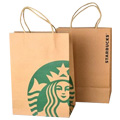 Natural Kraft Paper Bag with Paper Twist Handle