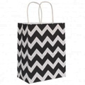 White Kraft Paper Bag with Paper Twist Handle