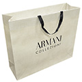 Paper Bag with Grosgrain Flat Cotton Handle